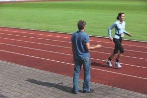 Runner training with coach | Custom Orthotics Sunshine Coast