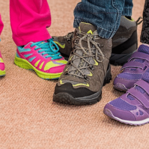 Childrens shoes with custom orthotics